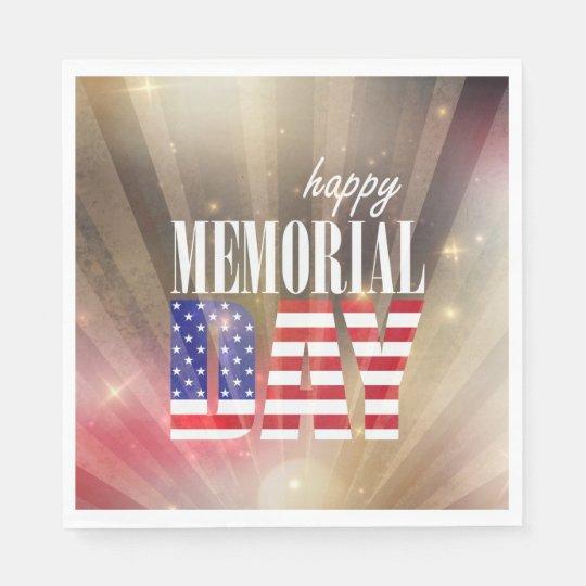 Happy Memorial Day Paper Napkin Pack