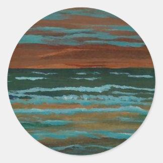 Happy Memory  CricketDiane Ocean Art Round Sticker