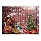 Happy Merry Christmas Chic Fantasy Postcart Postcard