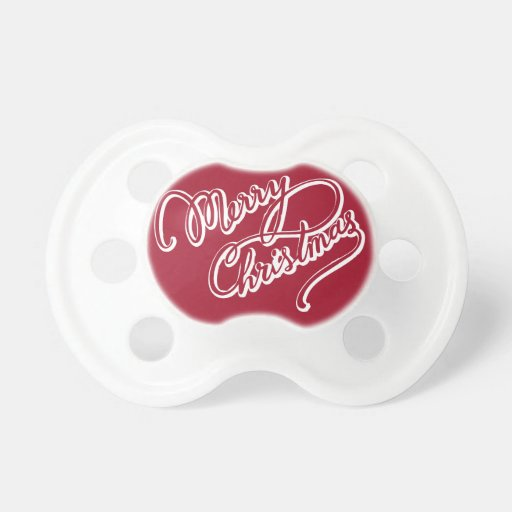 Happy Merry Christmas Pacifiers