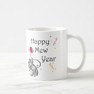 Happy Mew Year Coffee Mugs