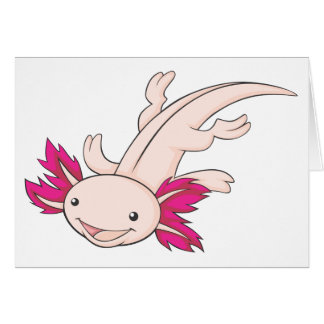 Happy Mexican Axolotl Greeting Card