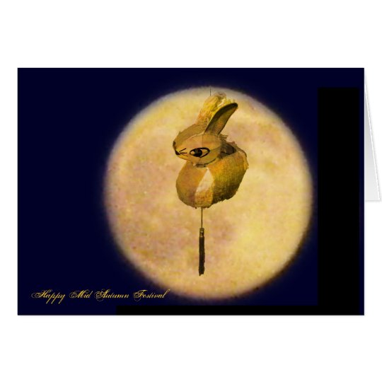 Happy Mid Autumn Festival Holiday Greeting Card