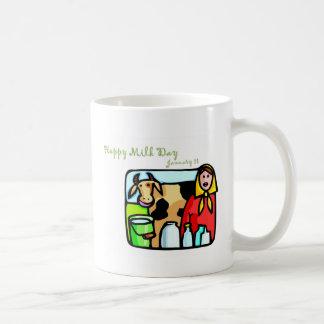 Happy Milk Day January 11 Basic White Mug