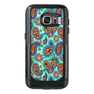 Happy Mint and Orange Paisley Pattern OtterBox Samsung Galaxy S7 Case