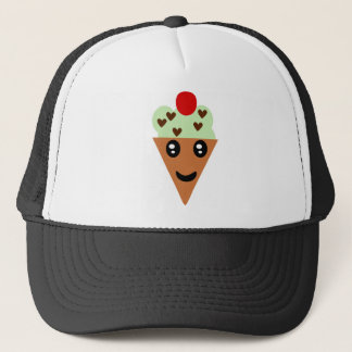 Happy Mint Chocolate Chip Ice Cream Trucker Hat