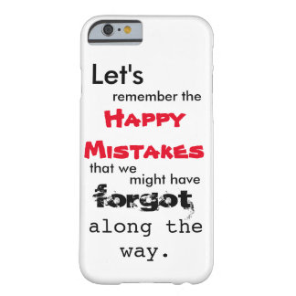 Happy Mistakes Lyrics iPhone 6 Case Barely There iPhone 6 Case