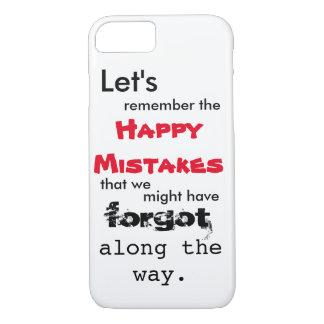 Happy Mistakes Lyrics iPhone 7 Case