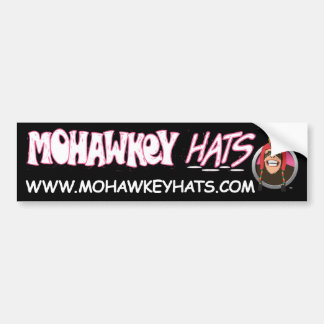 Happy Mohawkey Monkey bumper sticker