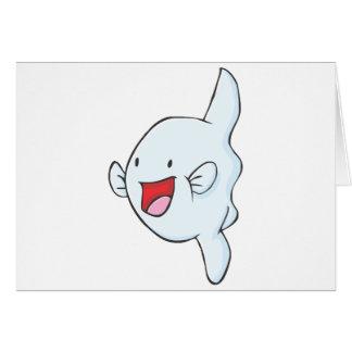 Happy Mola Fish Cartoon Cards