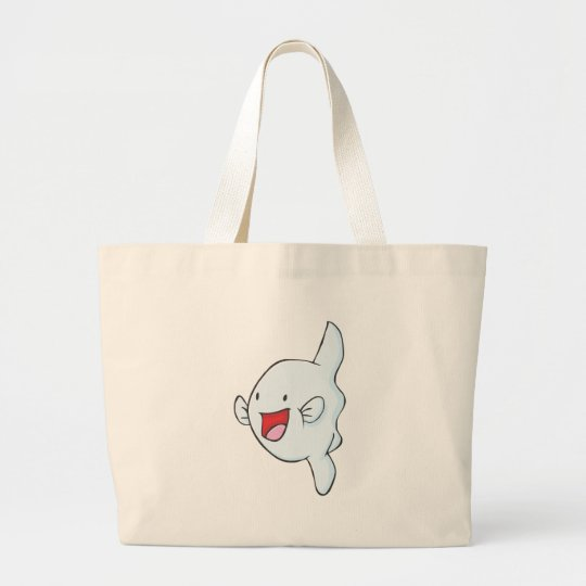 Happy Mola Fish Cartoon Large Tote Bag