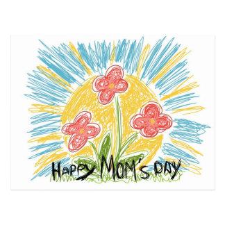 Happy Mom s Day - Flowers - Postcard