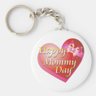 Happy Mommy Day Shirt Basic Round Button Key Ring
