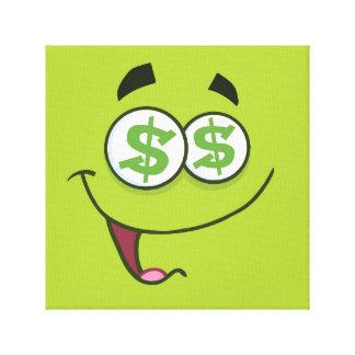 Happy Money Emoji Canvas Print
