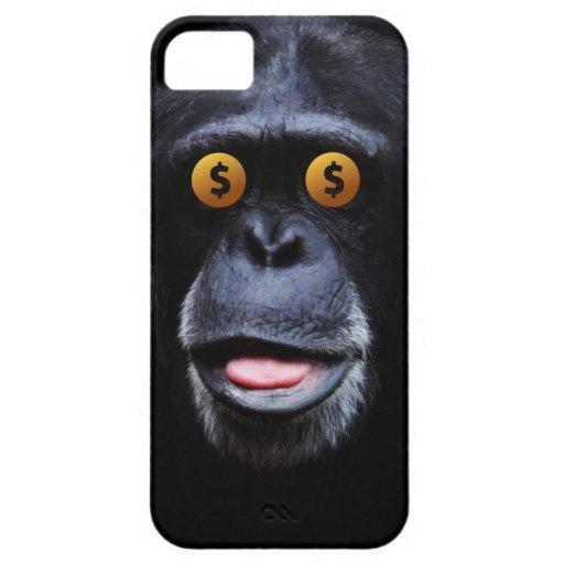 Happy Money Eyes Chimp iPhone 5 Case