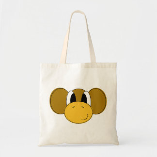 happy monkey budget tote bag