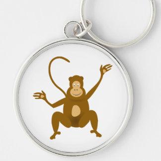 Happy monkey cartoon keychains