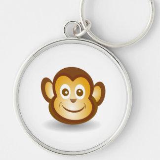 Happy monkey cartoon key chains
