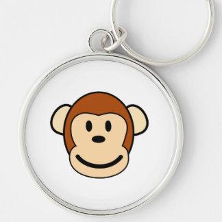 Happy monkey cartoon keychain