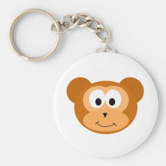 Happy Monkey Basic Round Button Key Ring