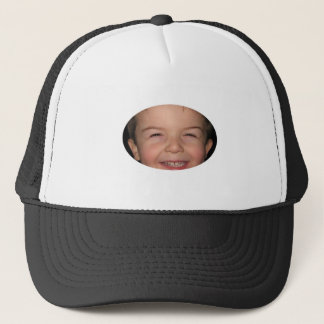 Happy Monkey Oval Trucker Hat