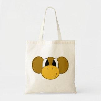 happy monkey budget tote bag