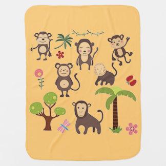 Happy Monkeys Baby Blanket