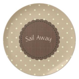 Happy Monochrome  Design(c)TEMPLATE_ Dots_Beige Dinner Plates