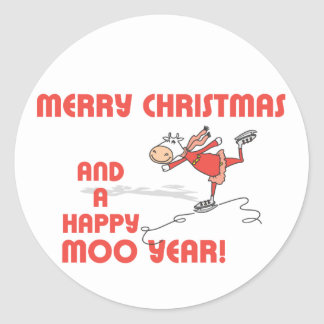Happy Moo year Stickers