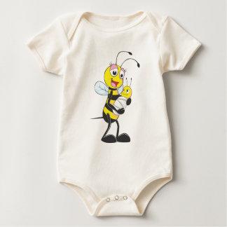 Happy Mother and Baby Bee Baby Bodysuit