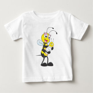 Happy Mother and Baby Bee Baby T-Shirt