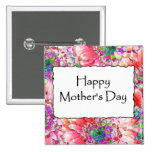 Happy Mother's Day 15 Cm Square Badge