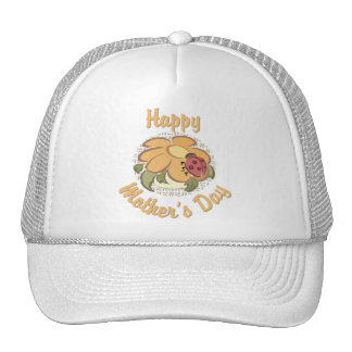 Happy Mother's Day Flower and Lady Bug 2 Trucker Hats