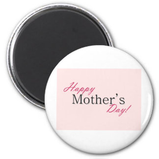 Happy mother day 6 cm round magnet