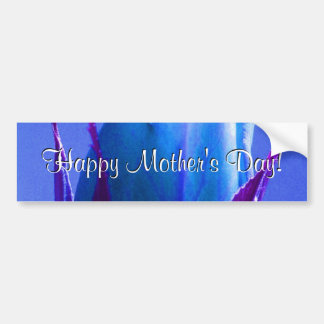 Happy Mother s Day Blue Rose Bumper Stickers