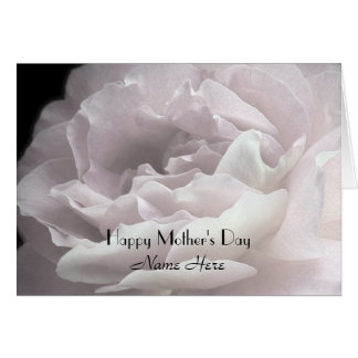 Happy Mother s Day Customize Name Rose Petals Greeting Card