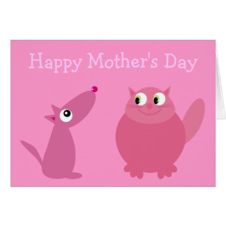 Happy Mother s Day Fur Kid Mom Cards