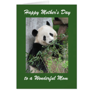 Happy Mother s Day Greeting Card Panda