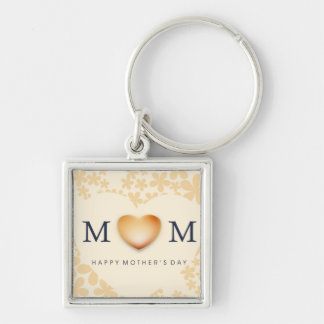 Happy Mother s Day Heart Peach Keychain