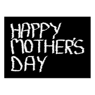 Happy Mother s Day In Black and White Business Card Template
