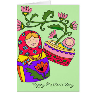 Happy Mother s Day Matryoshka Ukrainian Folk Art Cards