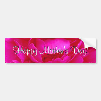 Happy Mother s Day Pink Rose Bumper Sticker