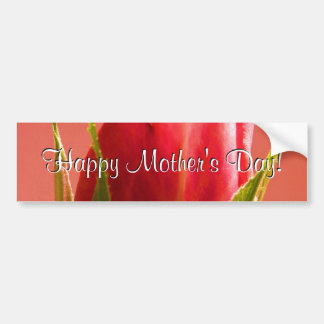 Happy Mother s Day Pink Rose I Bumper Stickers