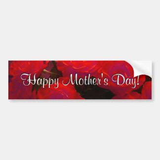 Happy Mother s Day Red Roses Bumper Sticker