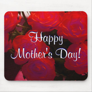Happy Mother s Day Red Roses Mouse Pads