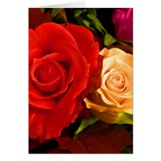Happy Mother s Day Red Yellow Roses III Greeting Card