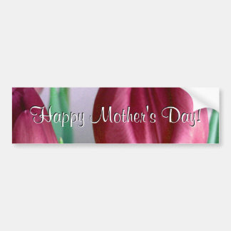 Happy Mother s Day Rosey Tulips Bumper Sticker