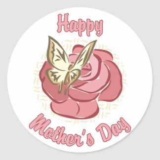 Happy Mother Round Stickers