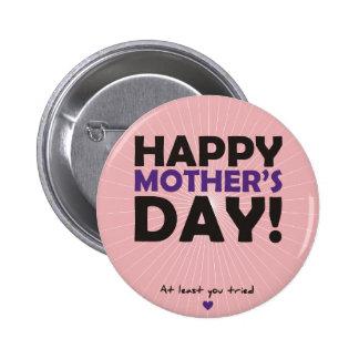Happy Mother's Day 6 Cm Round Badge