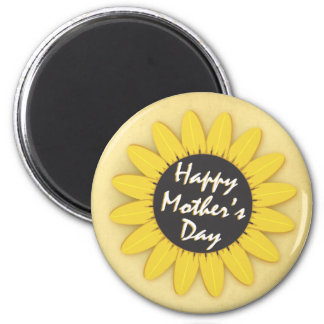 Happy Mother's Day 6 Cm Round Magnet